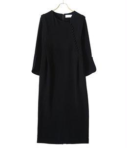 【レディース】Asymmetrical Collar Long Dress