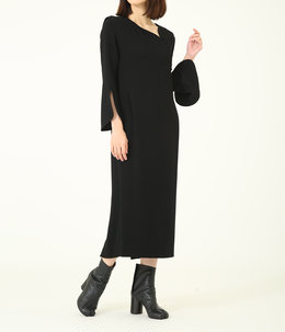 【レディース】Asymmetrical Collar Long Dress