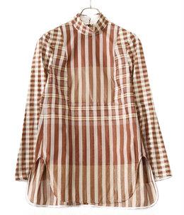 【レディース】Chequered Shirt With Ribbon Tie