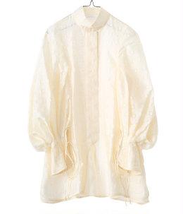 Floral Cut-Jacquard Shirt