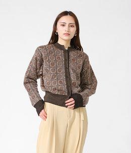 【レディース】Paisley Jacquard Knitted Cardigan