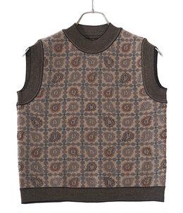 【レディース】Paisley Jacquard Knitted Vest