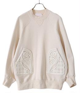 【レディース】Oversized Embroidered Sweatshirt