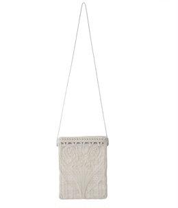 【レディース】Cording Embroidery Pouch With Leather Strap