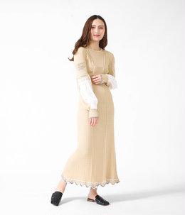 【レディース】Curtain Motif Knitted Dress