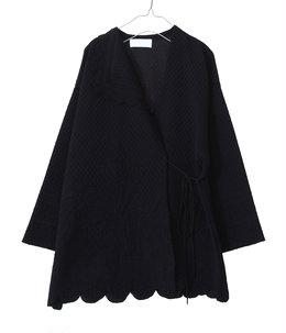 【レディース】Scallop Cut Knitted Jacket