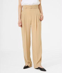 【レディース】Belted Tapered Trousers