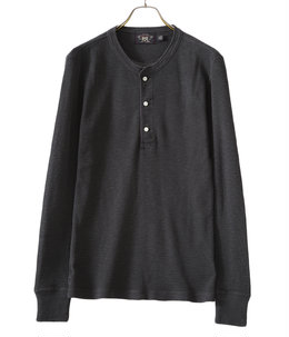 HENLEY-LONG SLEEVE-KNIT-COTTON NOV TEXTURE