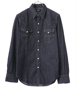 BUFFALO WEST-LONG SLEEVE-SPORT SHIRT-COTTON DENIM