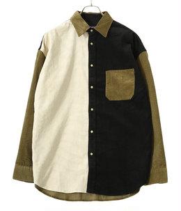 Organic Cotton Corduroy Panel Big Shirt