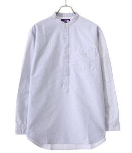 Cotton Polyester OX Band Collar Shirt
