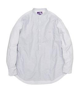 【予約】Cotton Polyester OX Band Collar Shirt