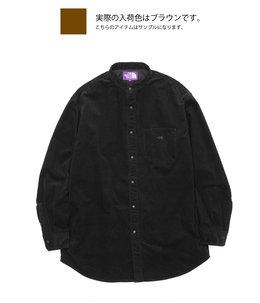 【予約】Corduroy Band Collar Shirt