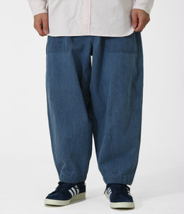Denim Field Wide Cropped Pants
