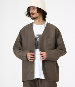 Hunting shirt jacket - linen viscose stretch-