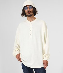 Henry neck LS T-shirt
