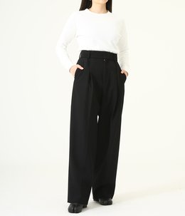 BACK SATIN TAPERED PANTS