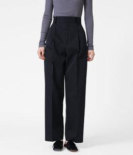 【レディース】WOOL GABARDINE TAPERED PANTS