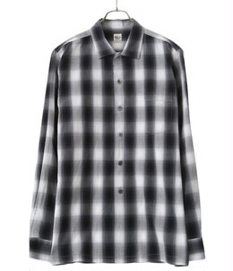 Ombre Check Open-Collared LS SH