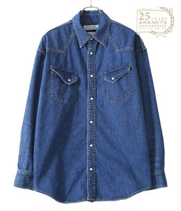 【ONLY ARK】別注デニムウエスタン ビッグシャツ