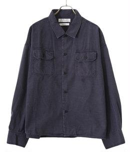 ワイドミリタリーシャツ(無地)