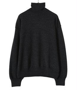 Merino Wool Knit Turtle-neck P/O