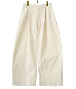 【予約】SORTE PEACHED COTTON TWILL VOLUME PLEAT PANTS