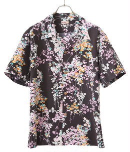 "S/S HAWAIIAN SHIRT ""CHERRY BLOSSOMS"""