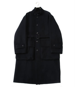 OVER SLEEVE STAND COLLAR COAT