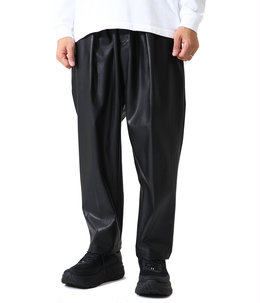 EX WIDE TAPERED TROUSERS (LEATHER)