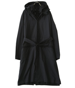 OVERSIZED LAYERED HOODED COAT