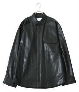 FAKE LEATHER DOWN PAT SHIRT