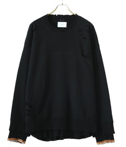 OVERSIZED LAYERED SWEAT LS