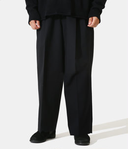 BELTED WIDE STRAIGHT TROUSERS