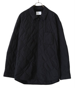 OVERSIZED QUILTED ZIP SHIRT JACKET