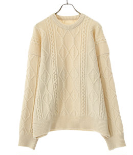 OVERSIZED CABLE KNIT LS