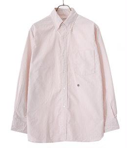 Button Down Stripe Wind Shirt