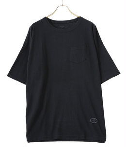 OVERSIZE POCKET TEE -BLACK-