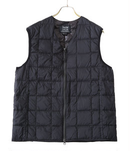 V NECK W-ZIP DOWN VEST