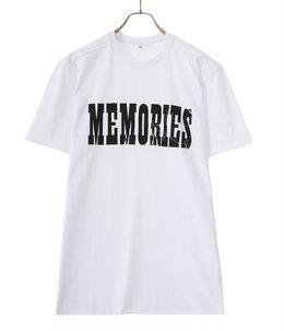 【予約】T-SHIRT MEMORIES BLACK PRINT
