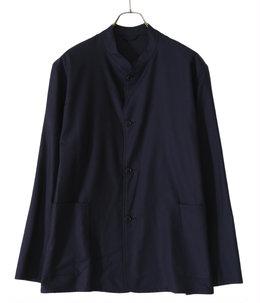 ウールフラノ スタンドカラージャケット