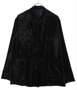 シルク別珍 スタンドカラージャケット