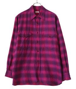 ウールシルク ワークシャツ