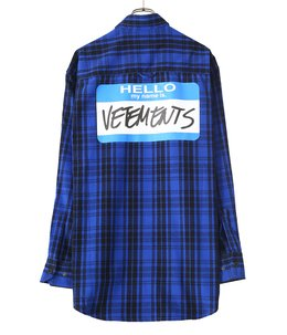 MY NAME IS VETEMENTS FLANNEL SHIRT