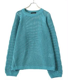 3G crew neck mesh knit
