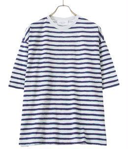 Short sleeve print border t-shirt