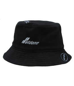BLACK COTTON WELLDONE LOGO STAMP BUCKET HAT