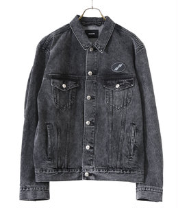 WASH BLACK OVERSIZED DENIM JACKET