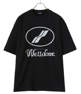 BLACK WE11DONE LOGO T-SHIRT