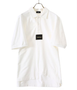 WHITE PANELED OVER-SIZE POLO